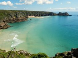 Photo of Porthcurno Beach, Cornwall.